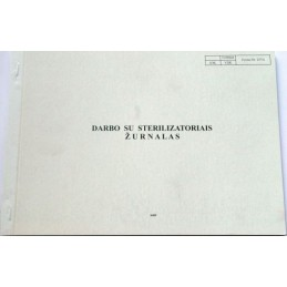 Sterilization registry book